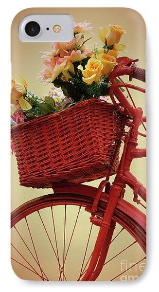 Spring Flower Bike IPhone Case by Carlos Caetano