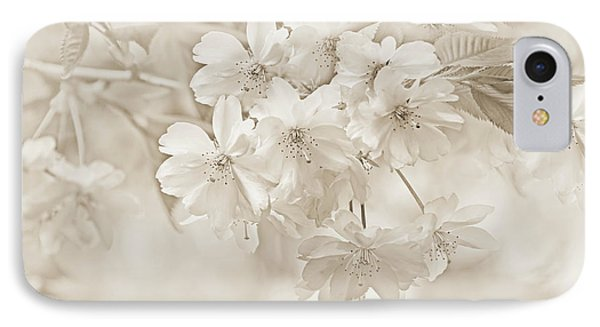 IPhone Case featuring the photograph Spring Flower Blossoms Soft Brown by Jennie Marie Schell