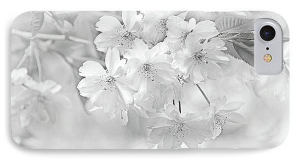 IPhone Case featuring the photograph Spring Flower Blossoms Soft Gray by Jennie Marie Schell
