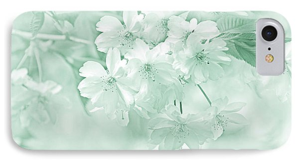 IPhone Case featuring the photograph Spring Flower Blossoms Teal by Jennie Marie Schell