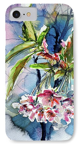 IPhone Case featuring the painting Spring Flower by Kovacs Anna Brigitta