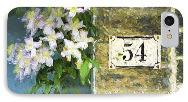 Spring Flowers At No. 54 Cambridge England IPhone Case by Carol Leigh