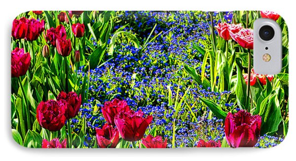 Spring Flowers Impression IPhone Case by Olivier Le Queinec