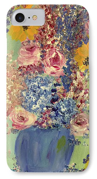 Spring Flowers In Vase Phone Case by Angela Holmes