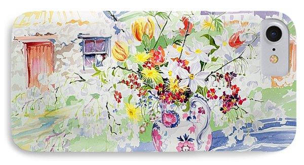 Spring Flowers On The Island Phone Case by Elizabeth Jane Lloyd