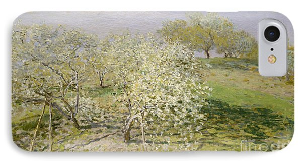 Spring, Fruit Trees In Bloom, 1873 IPhone Case by Claude Monet