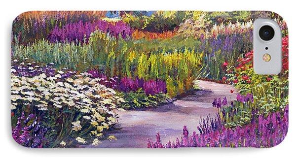 Spring Garden Path IPhone Case by David Lloyd Glover