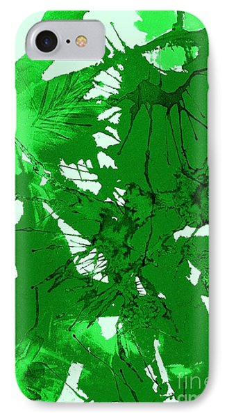 Spring Green Explosion - Abstract IPhone Case