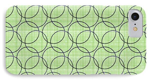 Spring Green Pattern Circles IPhone Case by Georgiana Romanovna