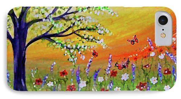 IPhone Case featuring the painting Spring Has Sprung by Sonya Nancy Capling-Bacle
