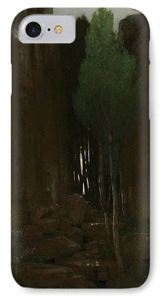 Spring In A Narrow Gorge IPhone Case by Arnold Bocklin