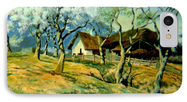 IPhone Case featuring the painting Spring In Poland by Henryk Gorecki