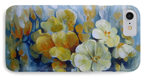 IPhone Case featuring the painting Spring Inflorescence by Elena Oleniuc