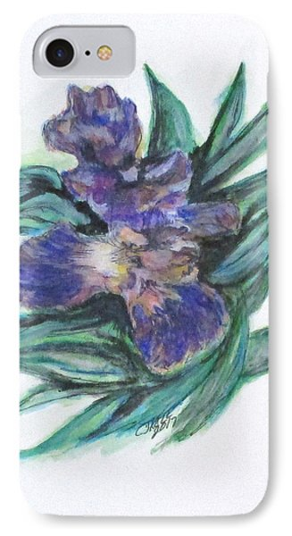 Spring Iris Bloom IPhone Case by Clyde J Kell