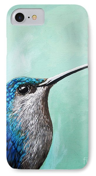 Spring Is Humming - Hummingbird Painting IPhone Case by Linda Apple
