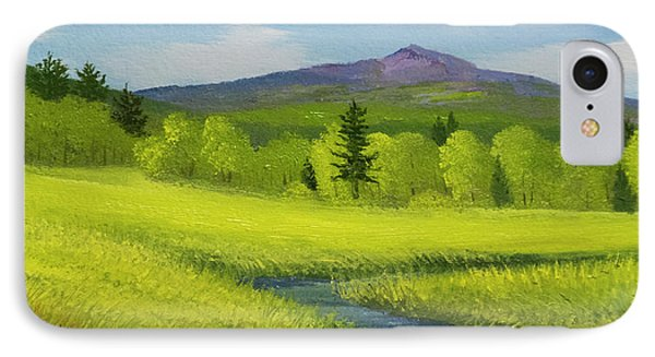 IPhone Case featuring the painting Spring Meadow Brook by Frank Wilson