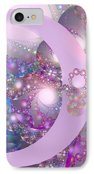 Spring Moon Bubble Fractal IPhone Case by Judi Suni Hall
