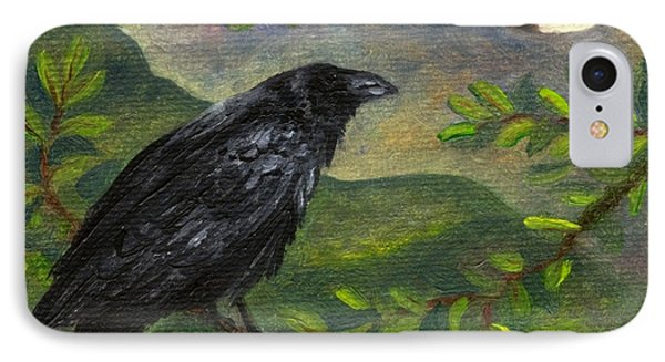 Spring Moon Raven IPhone Case by FT McKinstry