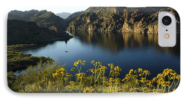 Spring Morning At The Lake IPhone Case by Sue Cullumber