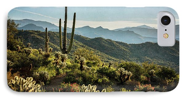 IPhone Case featuring the photograph Spring Morning In The Sonoran  by Saija Lehtonen