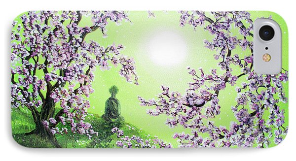Spring Morning Meditation IPhone Case by Laura Iverson
