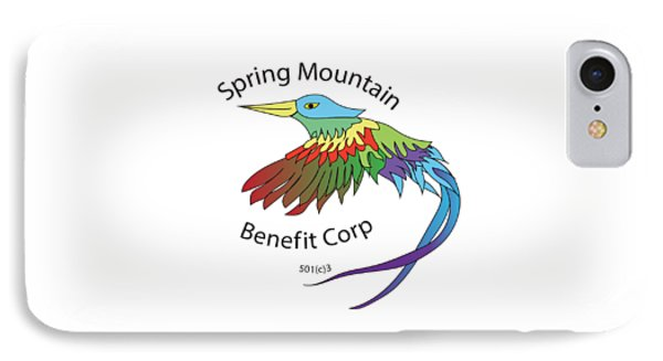 Spring Mountain Benefit Corp Logo IPhone Case by DreamID Graphics