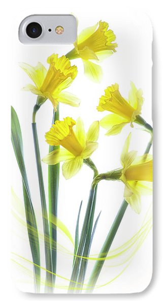 Spring Narcissus Phone Case by Jacky Parker