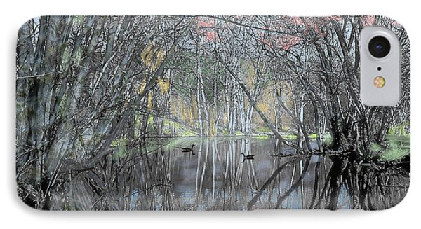 Spring On The Backwater IPhone Case by John Selmer Sr