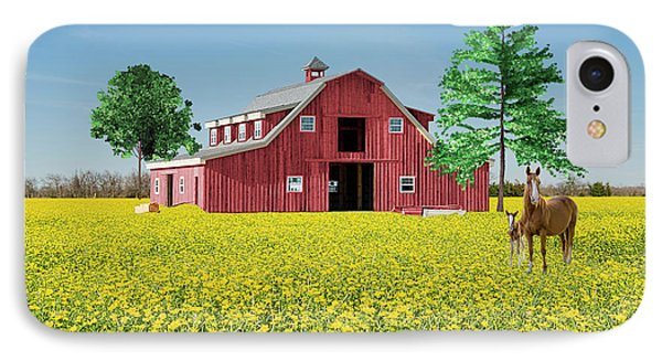Spring On The Farm IPhone Case by Bonnie Barry