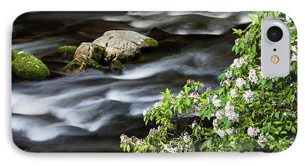 IPhone Case featuring the photograph Spring On The Oconaluftee River - D009923 by Daniel Dempster