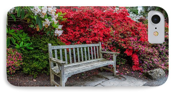Spring Park Bench IPhone Case by Adrian Evans