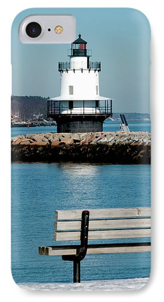 Spring Point Ledge Lighthouse IPhone Case by Greg Fortier