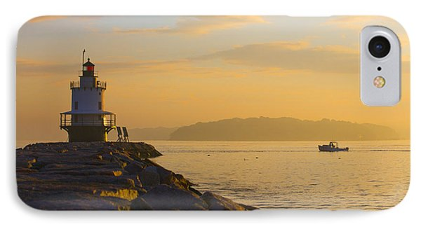 Spring Point Lighthouse At Dawn. IPhone Case by Diane Diederich