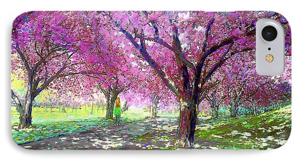 Spring Rhapsody, Happiness And Cherry Blossom Trees IPhone 7 Case