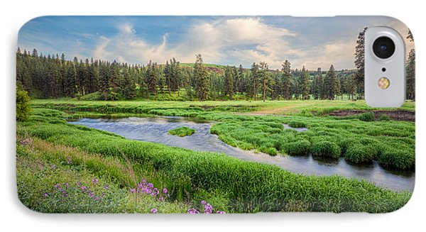 IPhone Case featuring the photograph Spring River Valley by Rikk Flohr