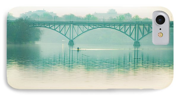 IPhone Case featuring the photograph Spring - Rowing Under The Strawberry Mansion Bridge by Bill Cannon