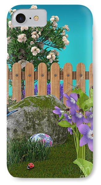 IPhone Case featuring the digital art Spring Scene by Mary Machare