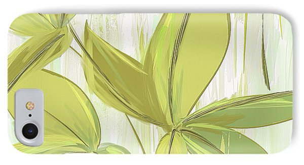 Spring Shades - Muted Green Art IPhone Case by Lourry Legarde