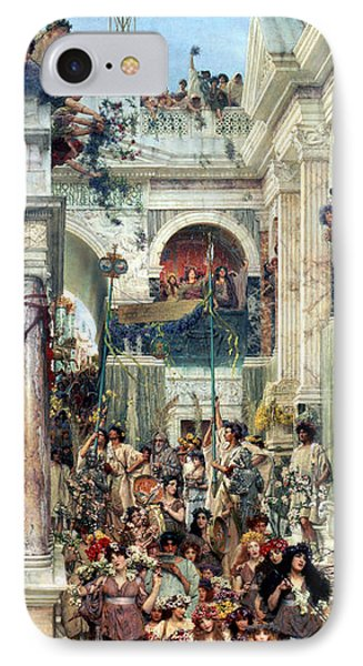 Spring Phone Case by Sir Lawrence Alma-Tadema