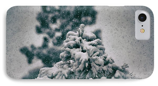 Spring Snowstorm On The Treetops IPhone Case by Jason Coward