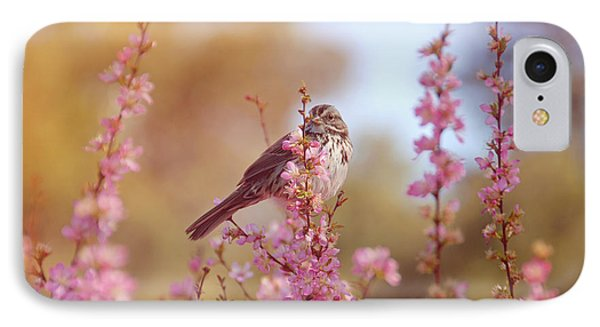 IPhone Case featuring the photograph Spring Sparrow by Lynn Bauer