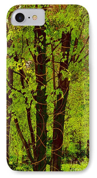 Spring Splendor, Verdant Green Fall Leaves IPhone Case by Tina Lavoie