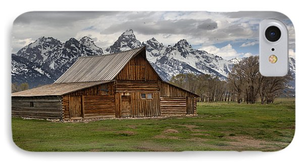 Spring Storms Over The Moulton Barn IPhone Case by Adam Jewell