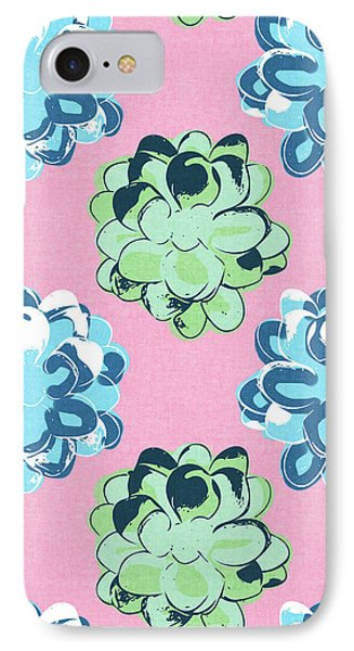 Spring Succulents- Art By Linda Woods IPhone Case by Linda Woods