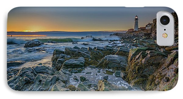 Spring Sunrise At Portland Head IPhone Case by Rick Berk