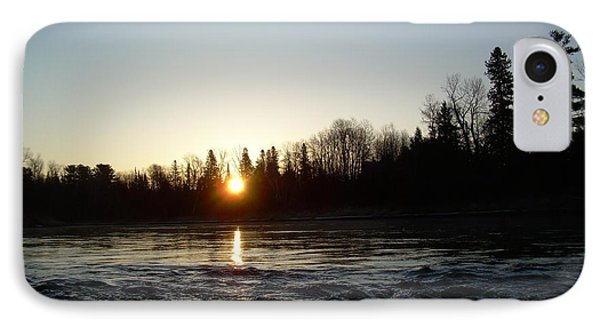 IPhone Case featuring the photograph Spring Sunrise Over Mississippi River by Kent Lorentzen
