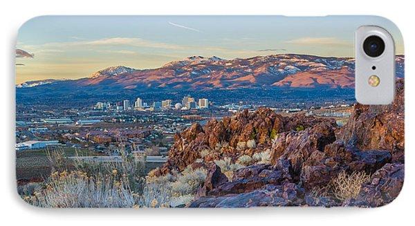 Spring Sunrise Overlooking Reno Nevada IPhone Case by Scott McGuire