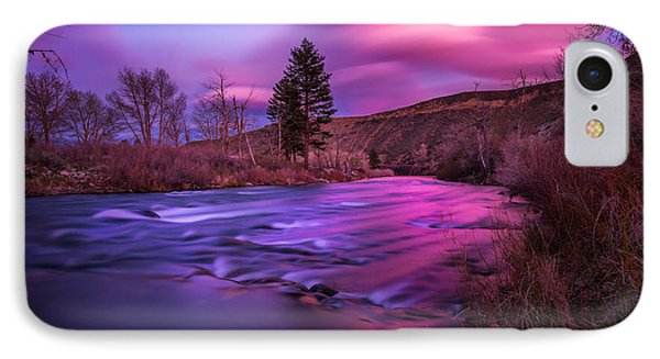 Spring Sunset Along The Truckee River Reno Nevada IPhone Case by Scott McGuire