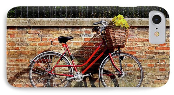 IPhone Case featuring the photograph Spring Sunshine And Shadows - Bicycle In Cambridge by Gill Billington