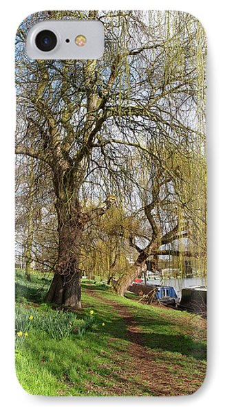 IPhone Case featuring the photograph Spring Sunshine On Cambridge Riverbank by Gill Billington